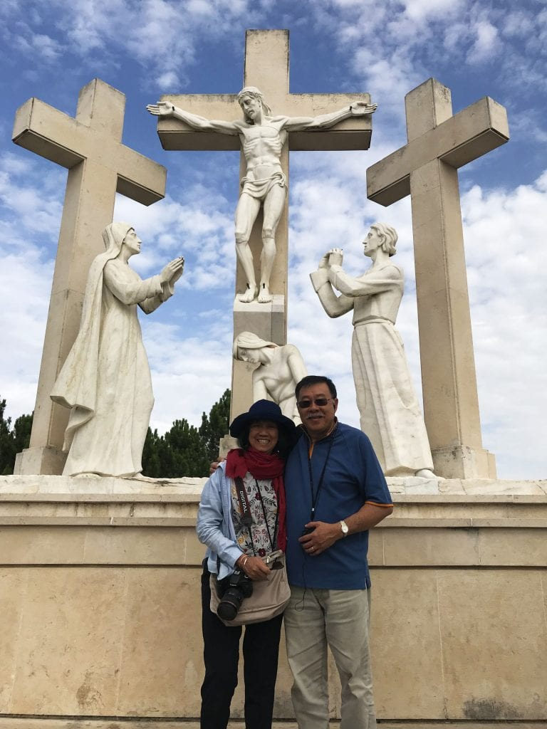 David and Brenda at the Way of the Cross in Valinhos (the site of the Virgin's appearance after the release of the children from prison). Photo: Supplied.