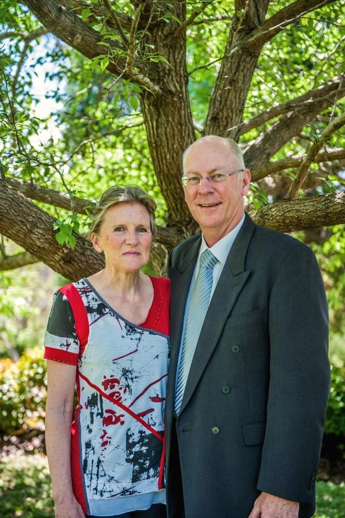 Aid to the Church in Need (ACN) National Director, Phillip Collignon together with his wife Debbie, who has been with ACN since 1985, will be retiring after three decades of service on 31 December 2017. Photo: Supplied.