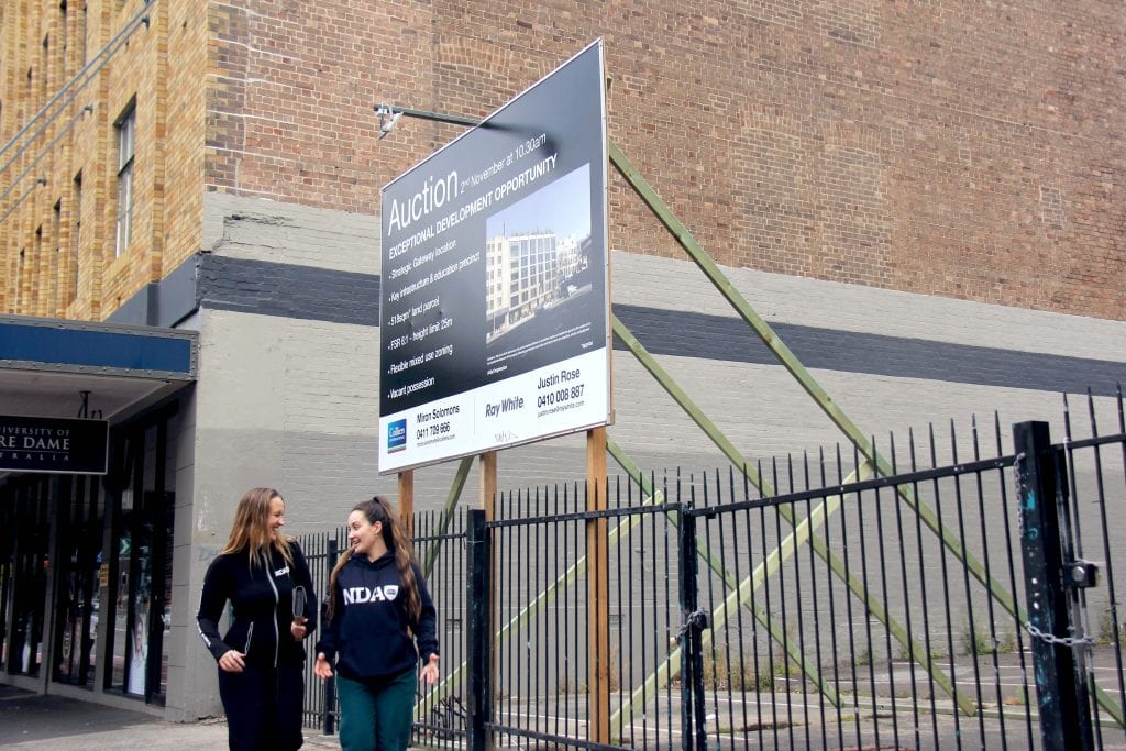 The University of Notre Dame Australia on 2 November, acquired the vacant site next to its Broadway campus in Sydney, paving the way for strong long-term growth in the national tertiary education sector. Photo: Supplied.