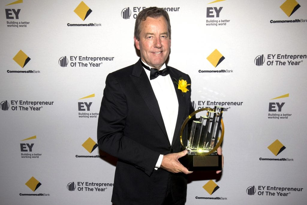 Peter Prendiville has been named Australia's 2017 Champion of Entrepreneurship at the EY Entrepreneur of the Year National Finals. Photo: EY.