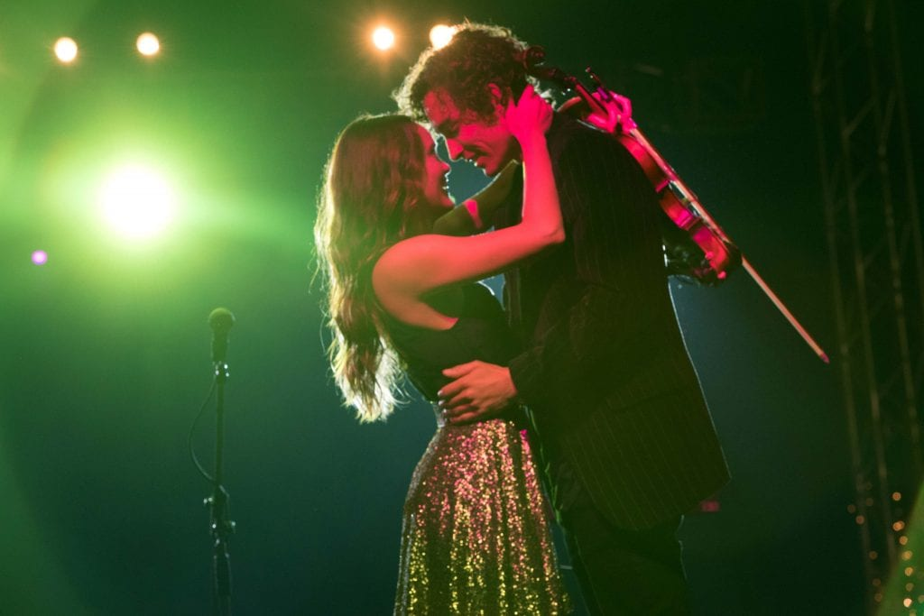 Rebecca Breeds and Robert Sheehan hit all the right notes as Keevey and Roland in Ben Elton's Three Summers. Photo: Supplied.