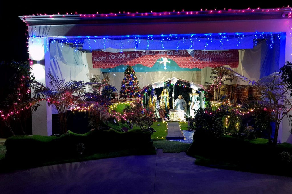 The Nativity scene was constructed in his garage at home and included several different locations related to the birth of Christ. Photo: Supplied.