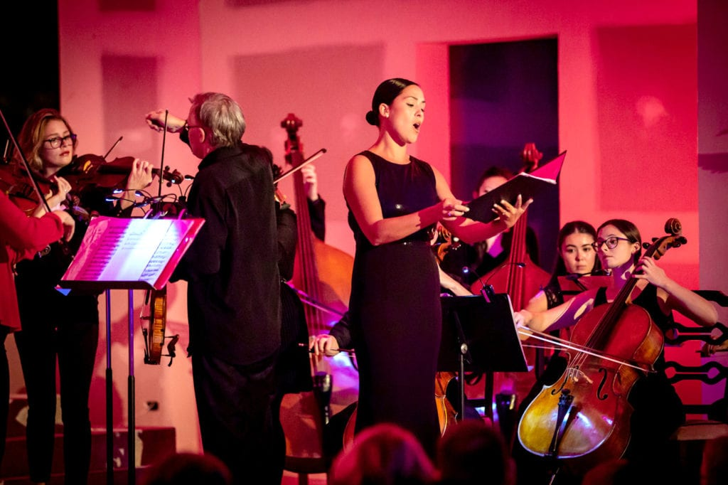 Mezzo-soprano Bianca Hurley accompanied by the St Georges Chamber Orchestra delivered a stunning performance in front of 400 guests present. Photo: Michael Connelly.