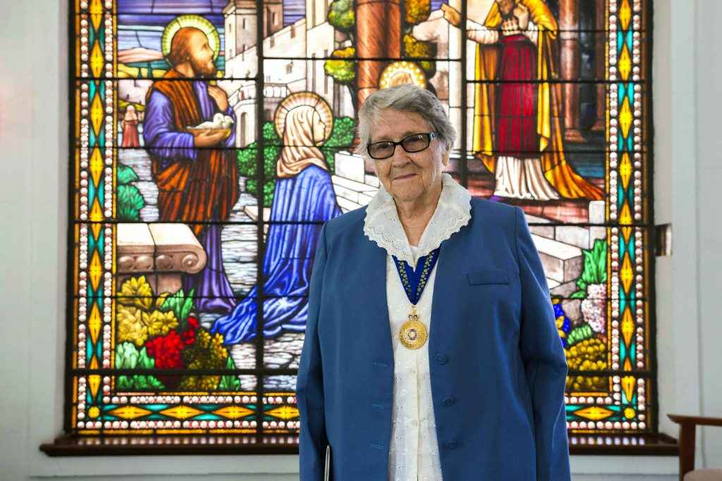 Sister Joan Kyrle Evans AO changed the lives of hundreds of students over the years. Photo: Matthew Lau.