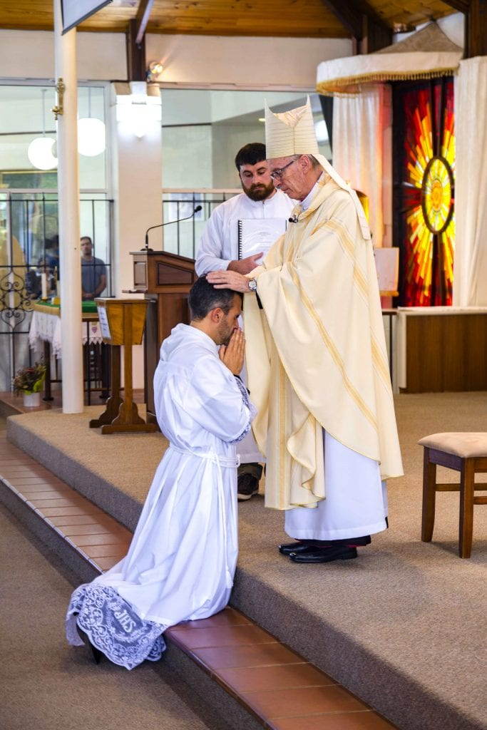 Deacon Chris de Sousa's ordination was held at his home parish of St Jerome's in Spearwood on 3 November 2018. Photo: Matthew Lau.