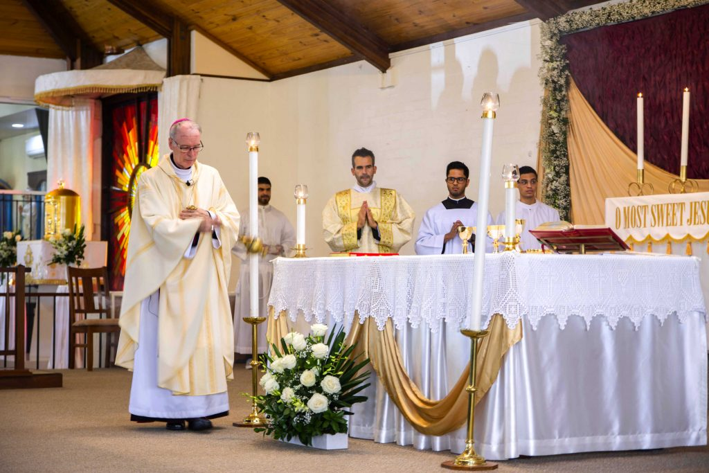 Auxiliary Bishop Donald Sproxton DD incenses the altar during Ordination Mass on Saturday 3 November at Spearwood Parish. Photo: Matthew Lau.