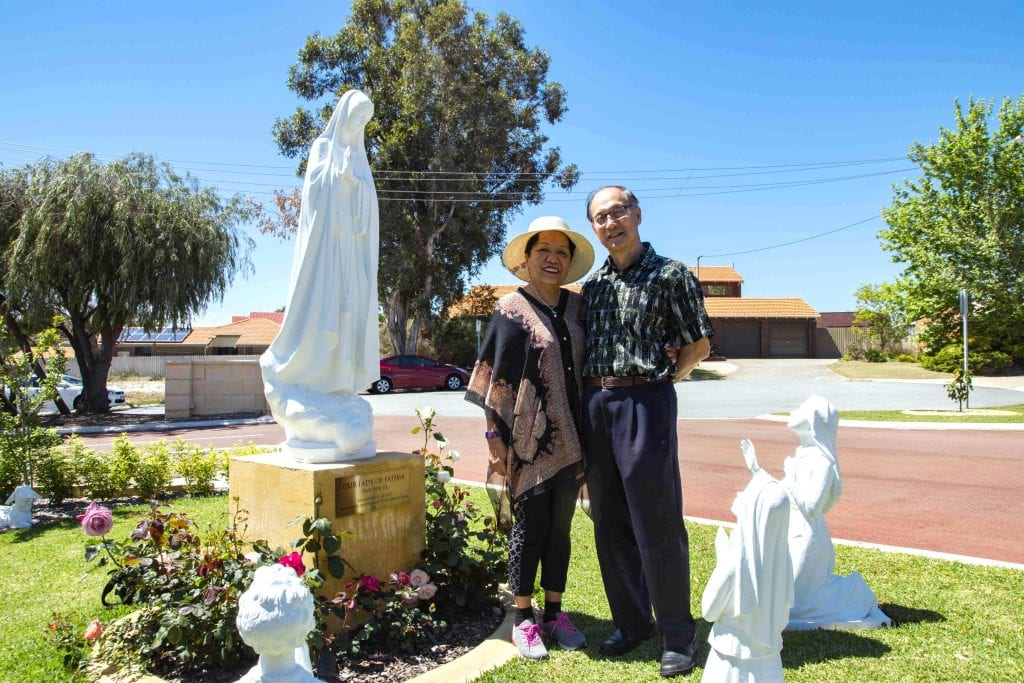 Martha and Edmund Cheong are regular fixtures at Sts John & Paul Church in Willetton. Photo: Matthew Lau.