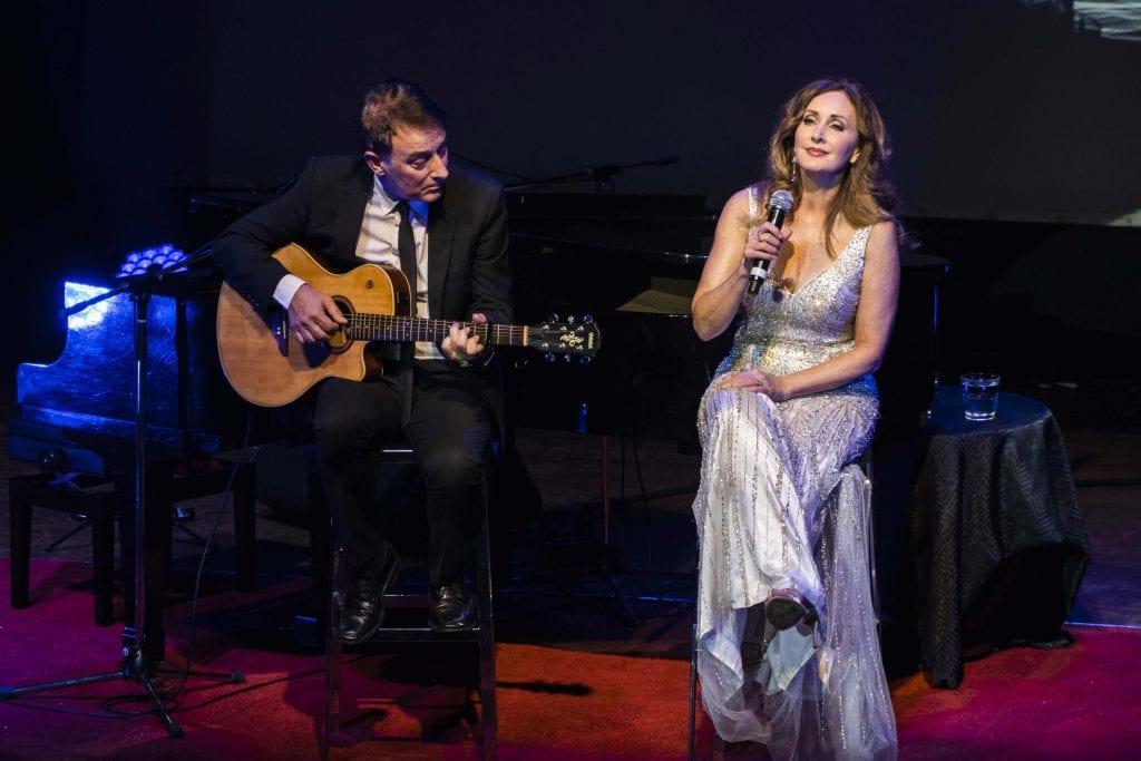 Musical virtuoso David Cameron and soprano Marina Prior. Photo: Matthew Lau.