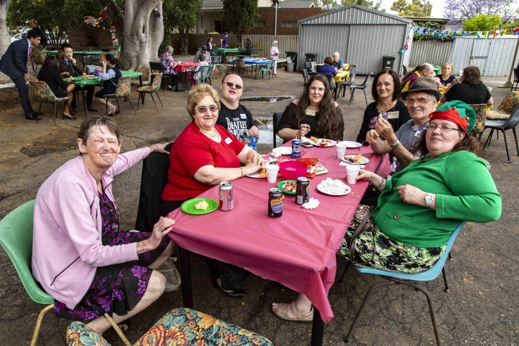 Emmanuel Centre members with their families and volunteers celebrated their annual Christmas party on 4 December 2018. Photo: Jamie O'Brien.