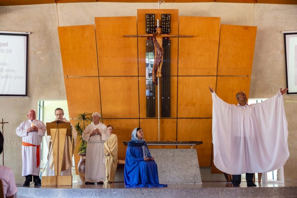 The readings were interpreted with movements the PAS and IdentityWA Christmas Mass and celebrations on 8 December 2018. Photo: Amanda Murthy.