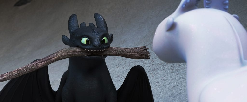 "Popular character Toothless discovers a female Light Fury dragon in ""How to Train Your Dragon: The Hidden World"". Photo: Universal Pictures International."