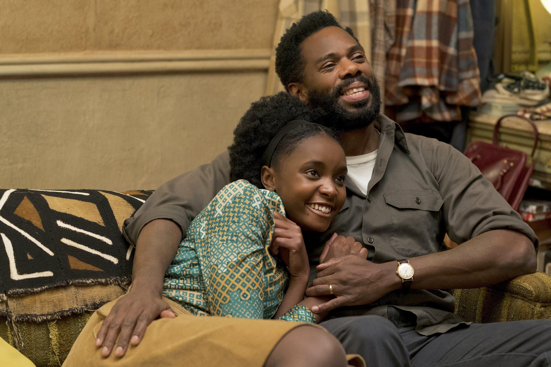 KiKi Layne and Colman Domingo star in a scene from the movie