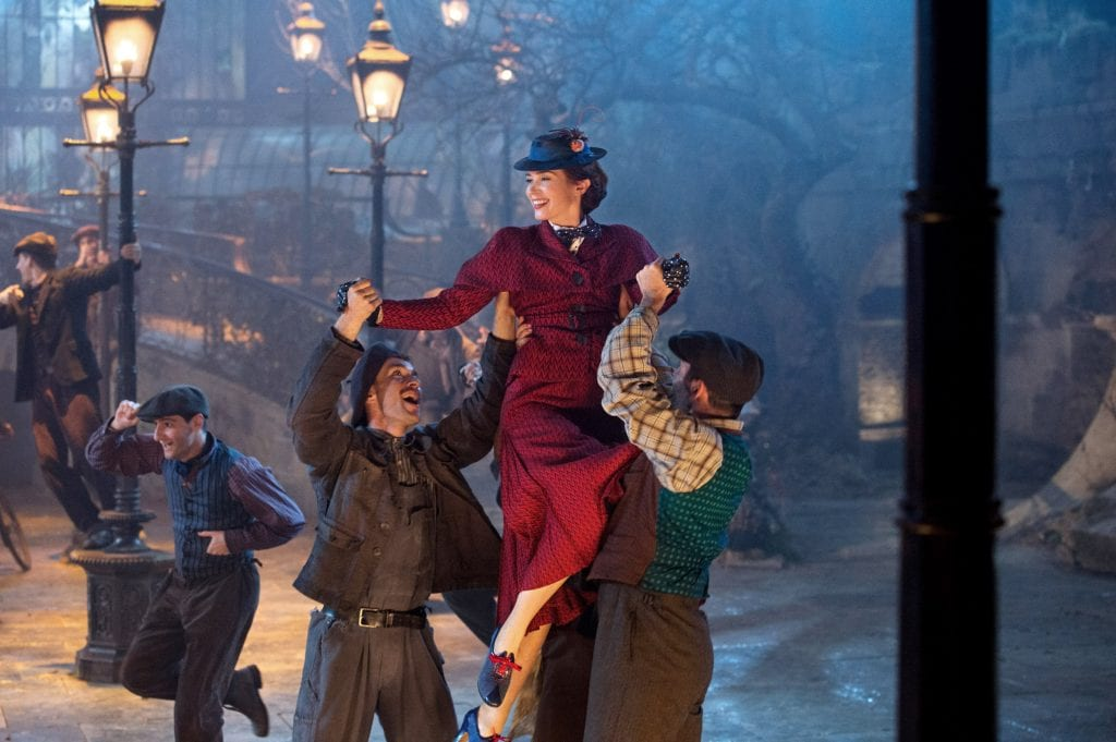 """Emily Blunt stars in a scene from the movie """"Mary Poppins Returns"""", a sequel to the 1964 film """"Mary Poppins"""". Photo: Jay Maidment/Disney."""