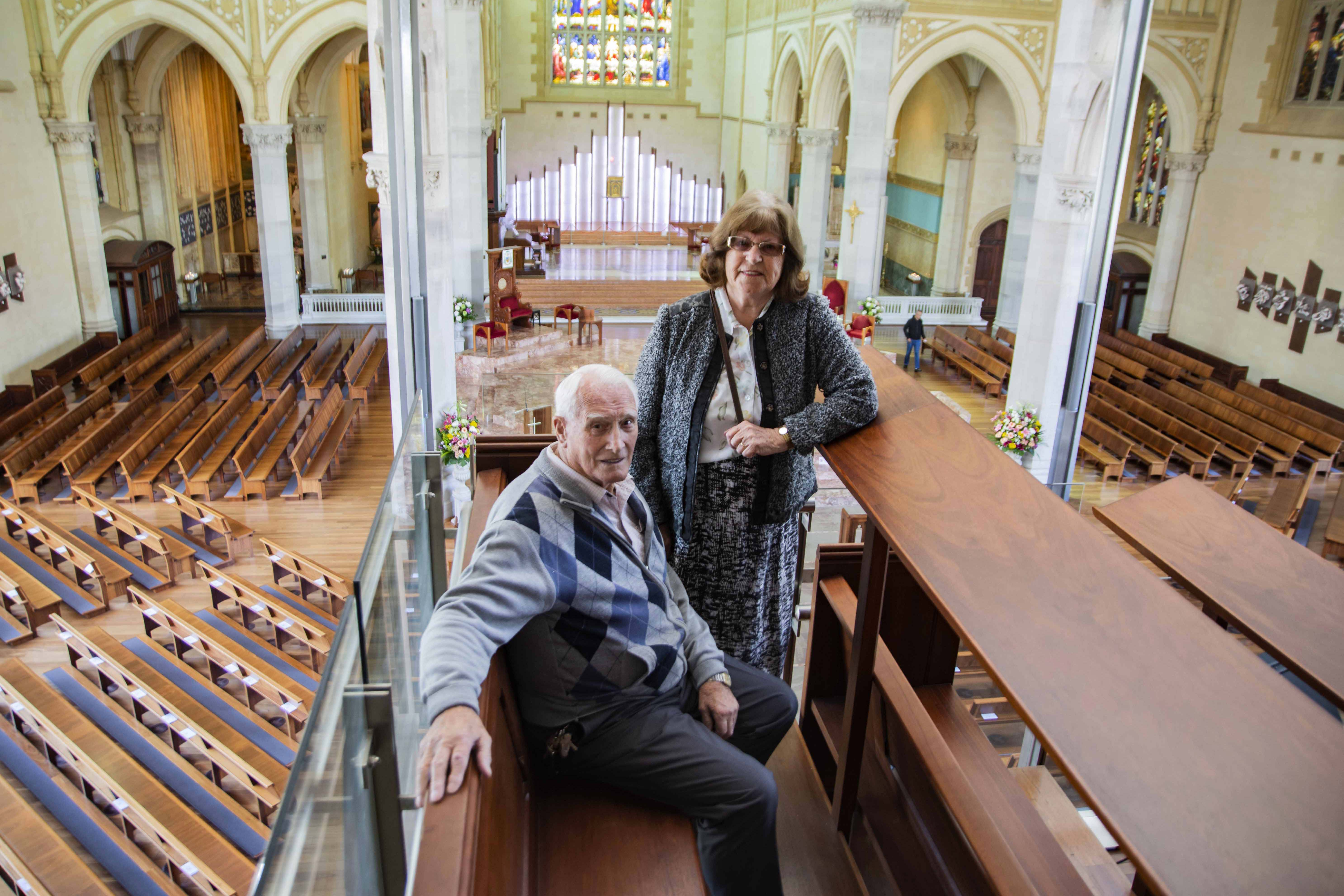 Tom and Angela Mahady were sacristans at St Mary's Cathedral for some 20 years. Photo: Matthew Lau.