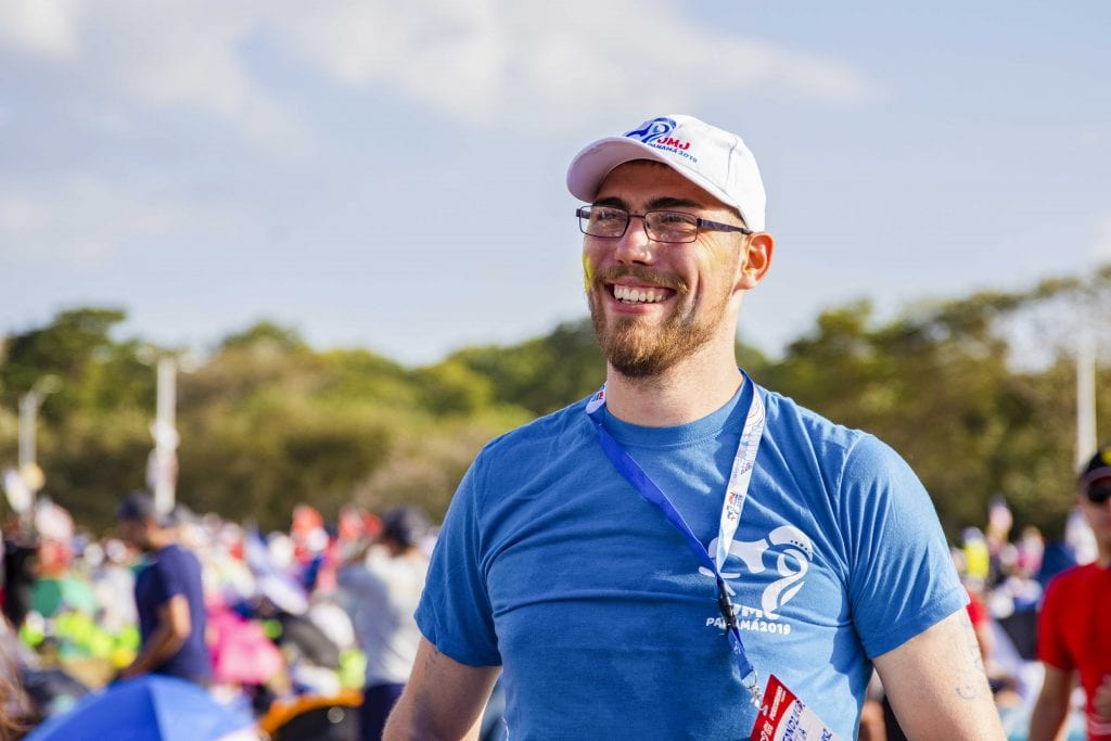 Pilgrim Simeon Dzieciol said being at World Youth Day has been a great blessing. Photo: Josh Low.