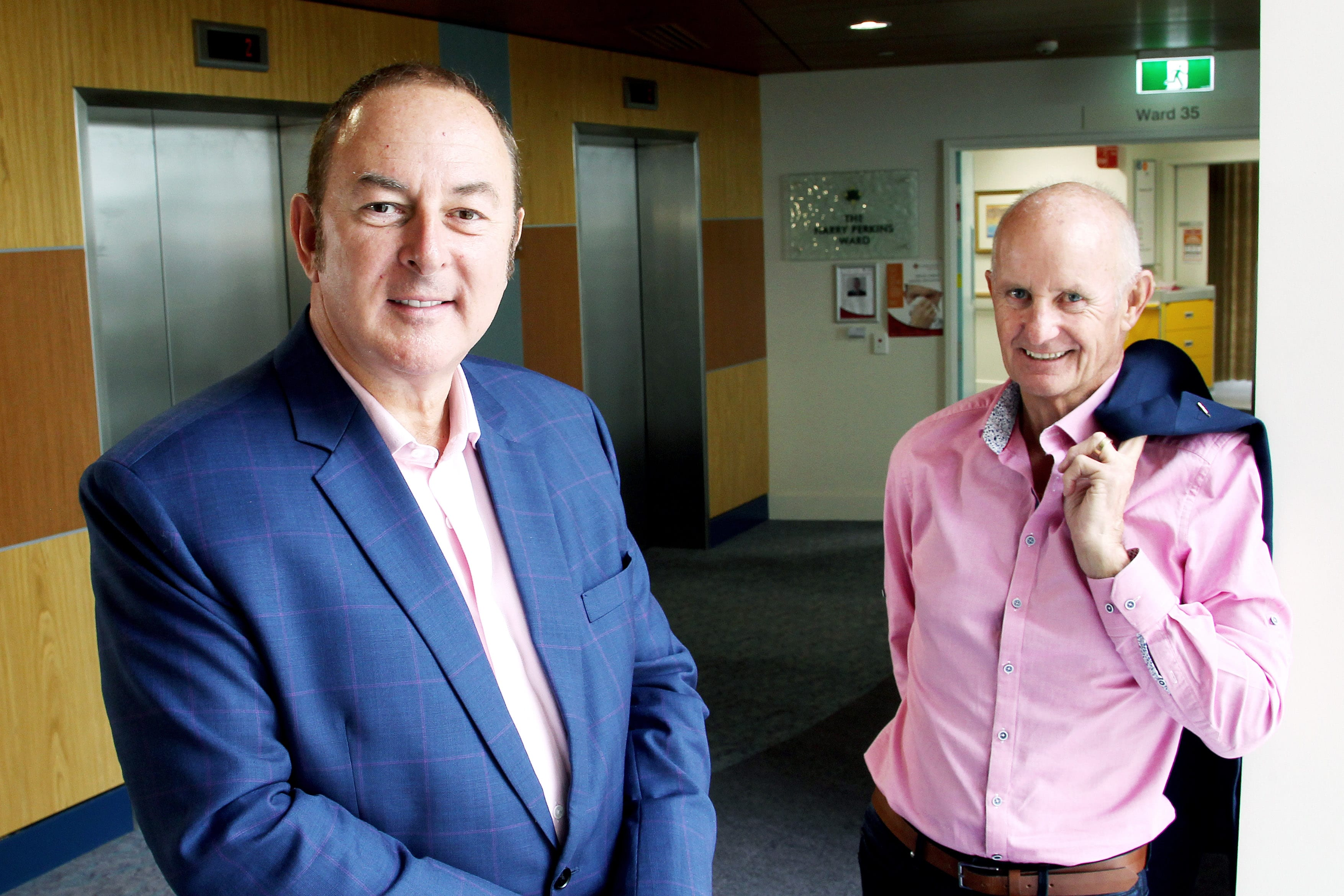 St John of God Subiaco Hospital Oncologist Dr Andrew Dean and patient Graeme Zorn. Photo: Supplied.