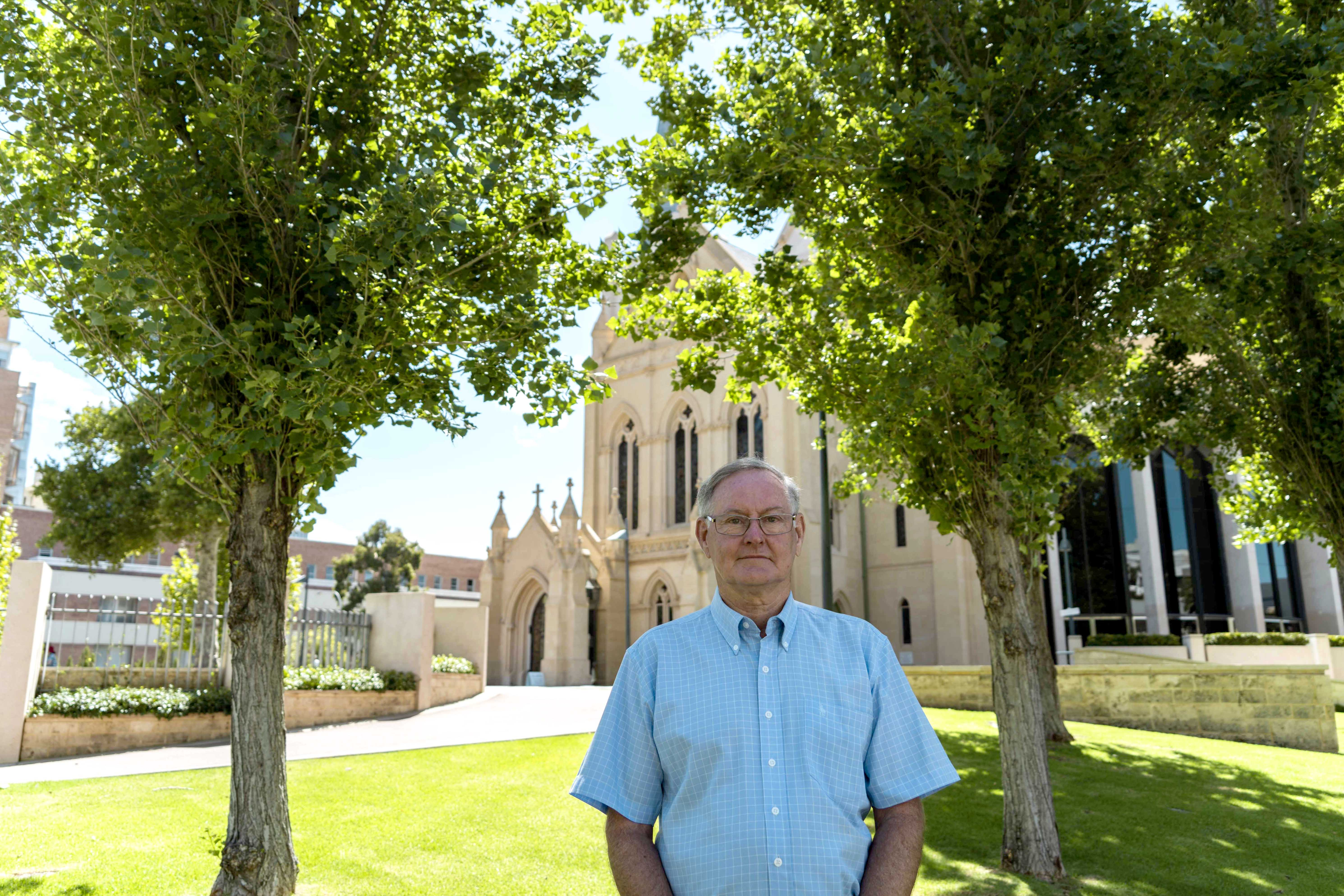 Peter McMinn was the Director of Perth Archdiocese agency Catholic Outreach for 20 years. Photo: Olivia Bunter.
