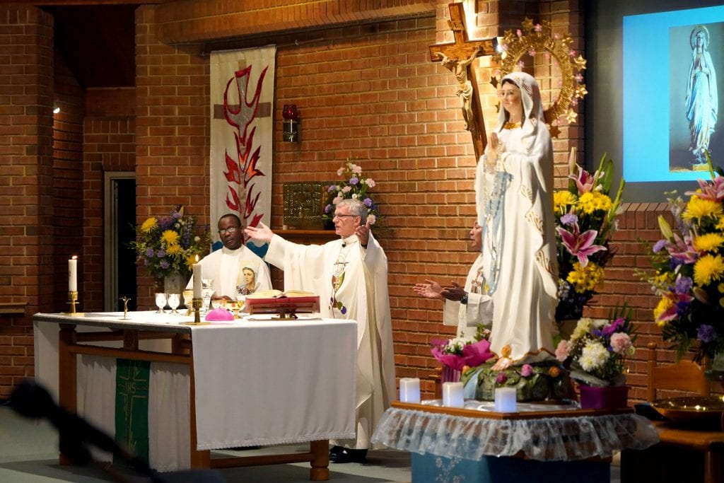Archbishop Costelloe celebrated the Feast of Our Lady of Lourdes at All Saints Church on 11 February. Photo: Matthew Lau.