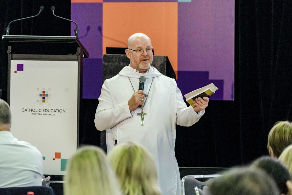 New Norcia Monastery Abbot John Herbert OSB during the Catholic Education Leaders February Forum at Newman Siena Centre in Doubleview. Photo: Matthew Lau.