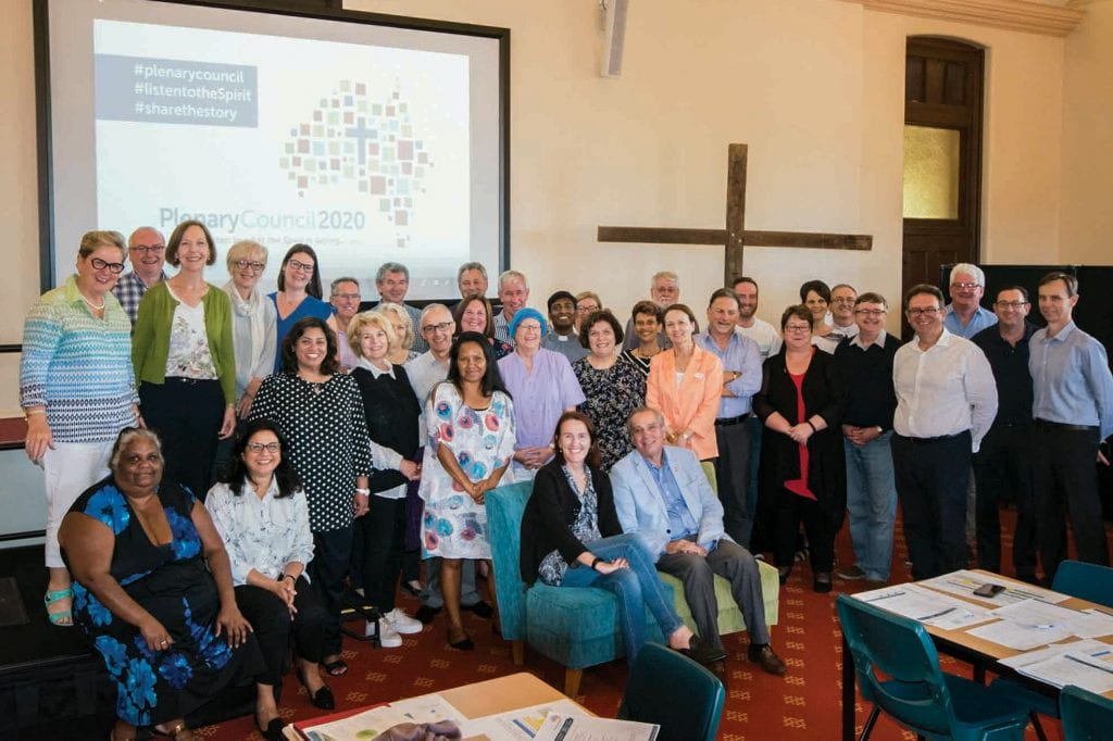 Leaders from across the WA Catholic community gathered to talk about and prepare for the 2020 Plenary Council in April 2018. Photo: Supplied.
