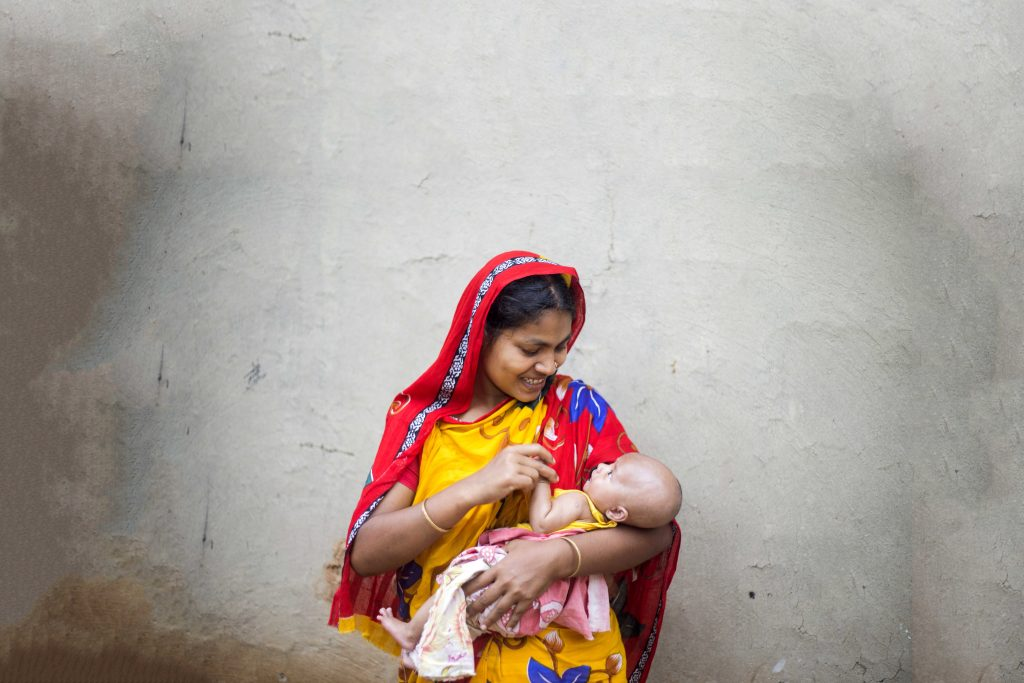 Salma and her baby, Samiul live in a rural community two hours from Bangladesh. They were Salma was able to get help during her pregnancy from the Safe Motherhood Program provided by Project Compassion. Photo: Ashish Peter Gomes.