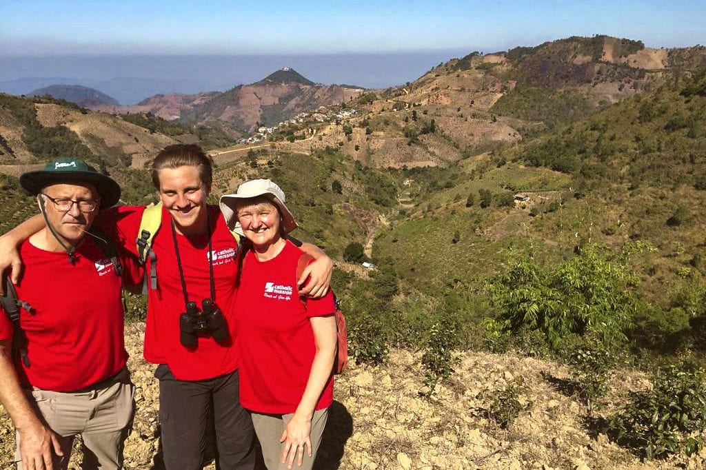 """Hikers for the 2018 """"Trek to Reach Out"""" pose for a photo. The next trekking adventure organised by Catholic Mission will begin from Siem Reap and end in Phnom Penh from 10 to 21 January 2020. Photo: Catholic Mission."""