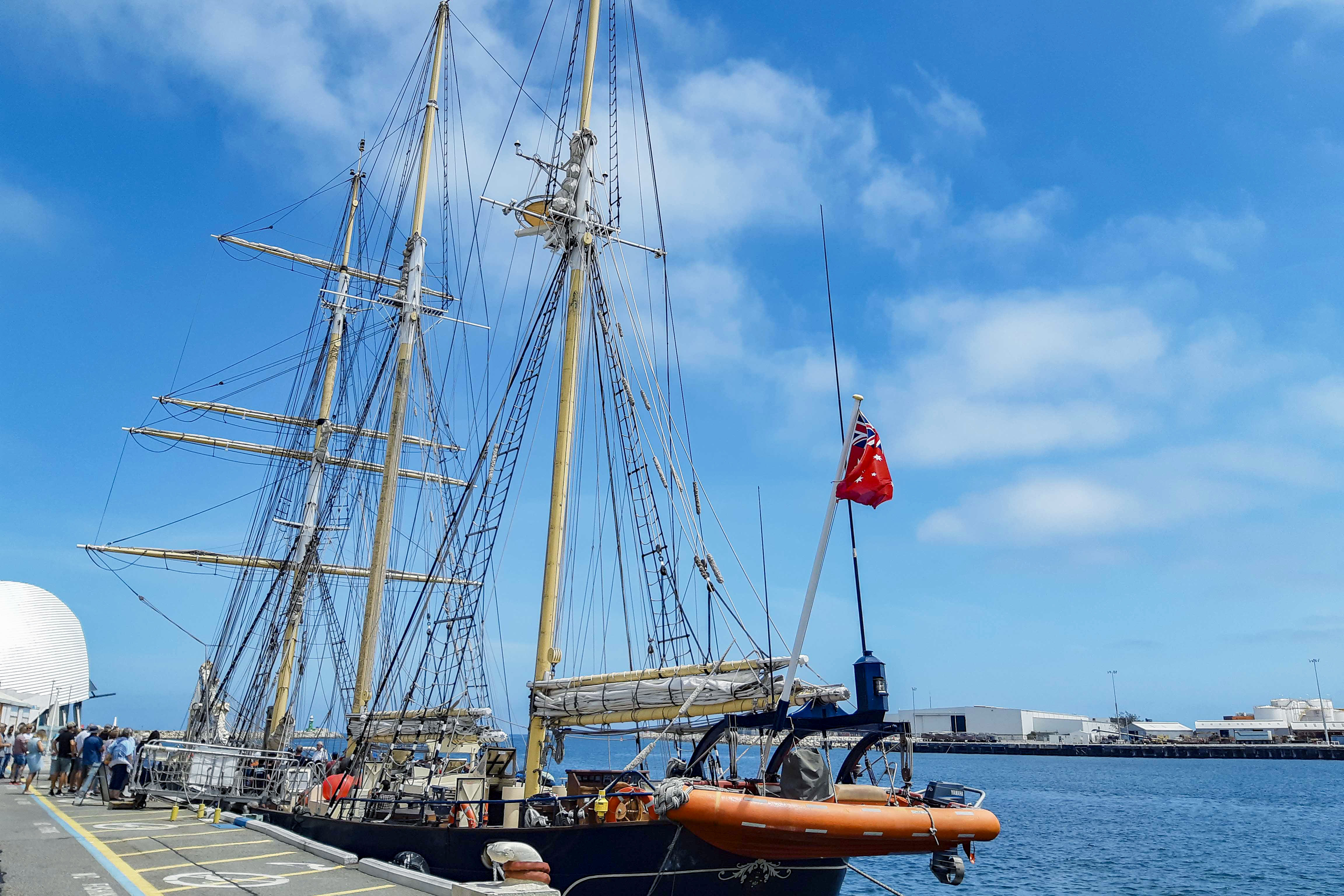 Identitywa recipient Chris took part in a five-day Ultimate Challenge voyage on a tall-ship. Photo: Identitywa.