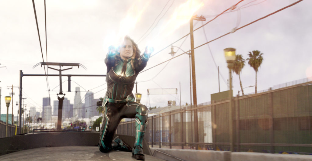 """Brie Larson stars in a scene from the movie """"Captain Marvel"""". Photo: Walk Disney Pictures/CNS."""