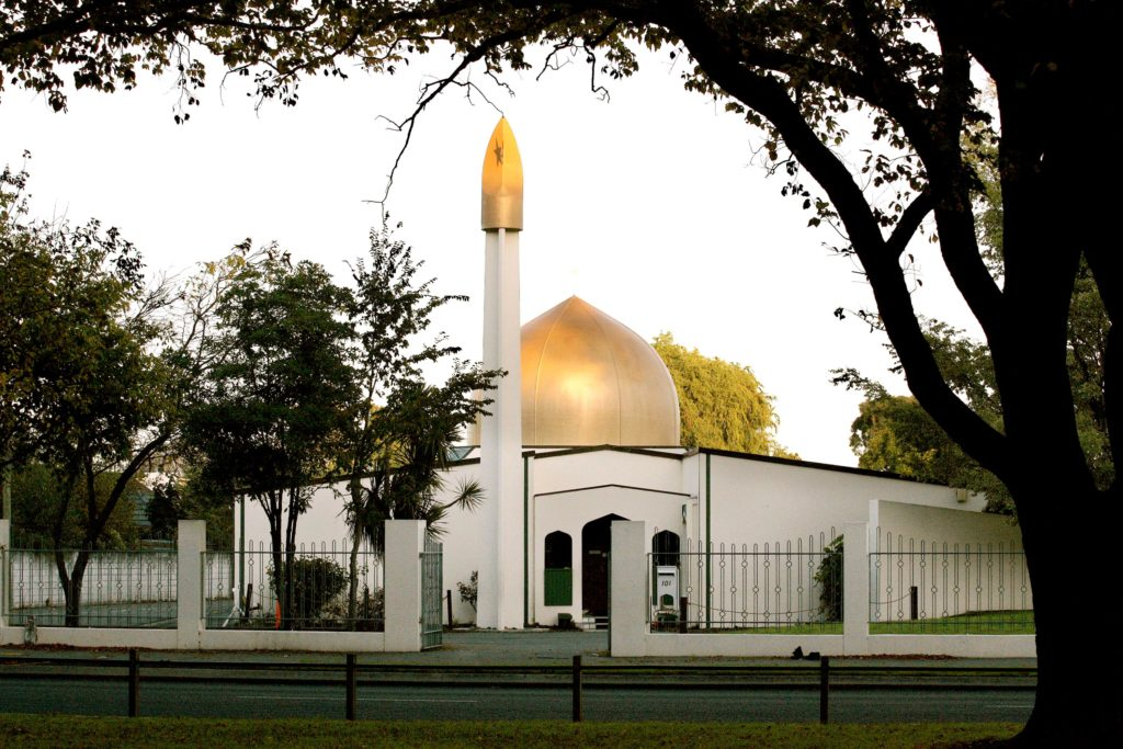 This is a view of the Al Noor Mosque on Deans Avenue in Christchurch, New Zealand, taken in 2014. The mosque was one of two attacked on 15 March 2019; at least 50 people were killed. Photo: CNS/Martin Hunter, Reuters.