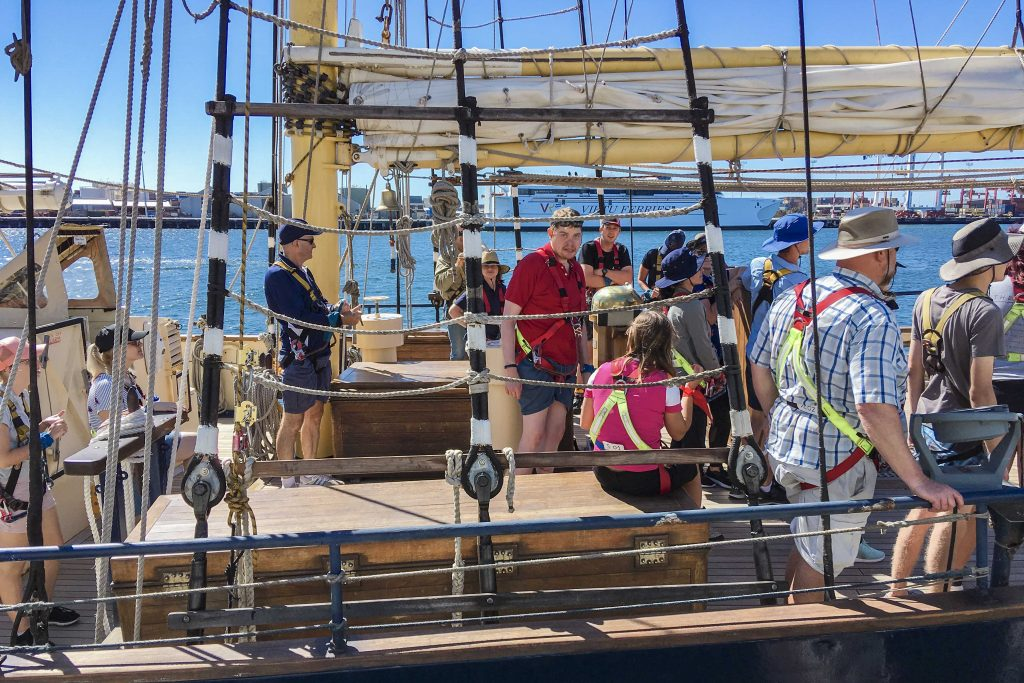Identitywa recipient Chris took part in a five-day Ultimate Challenge voyage under the STS Leeuwin II programme. Photo: Identitywa.