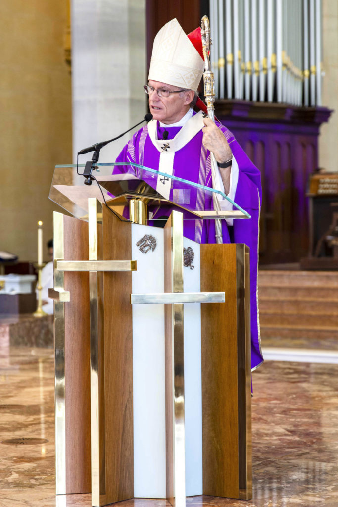 Perth Archbishop Timothy Costelloe SDB has on Sunday 18 March prayed with special intentions for the victims, their families and friends of the New Zealand terrorist attack. Photo: Jamie O'Brien.