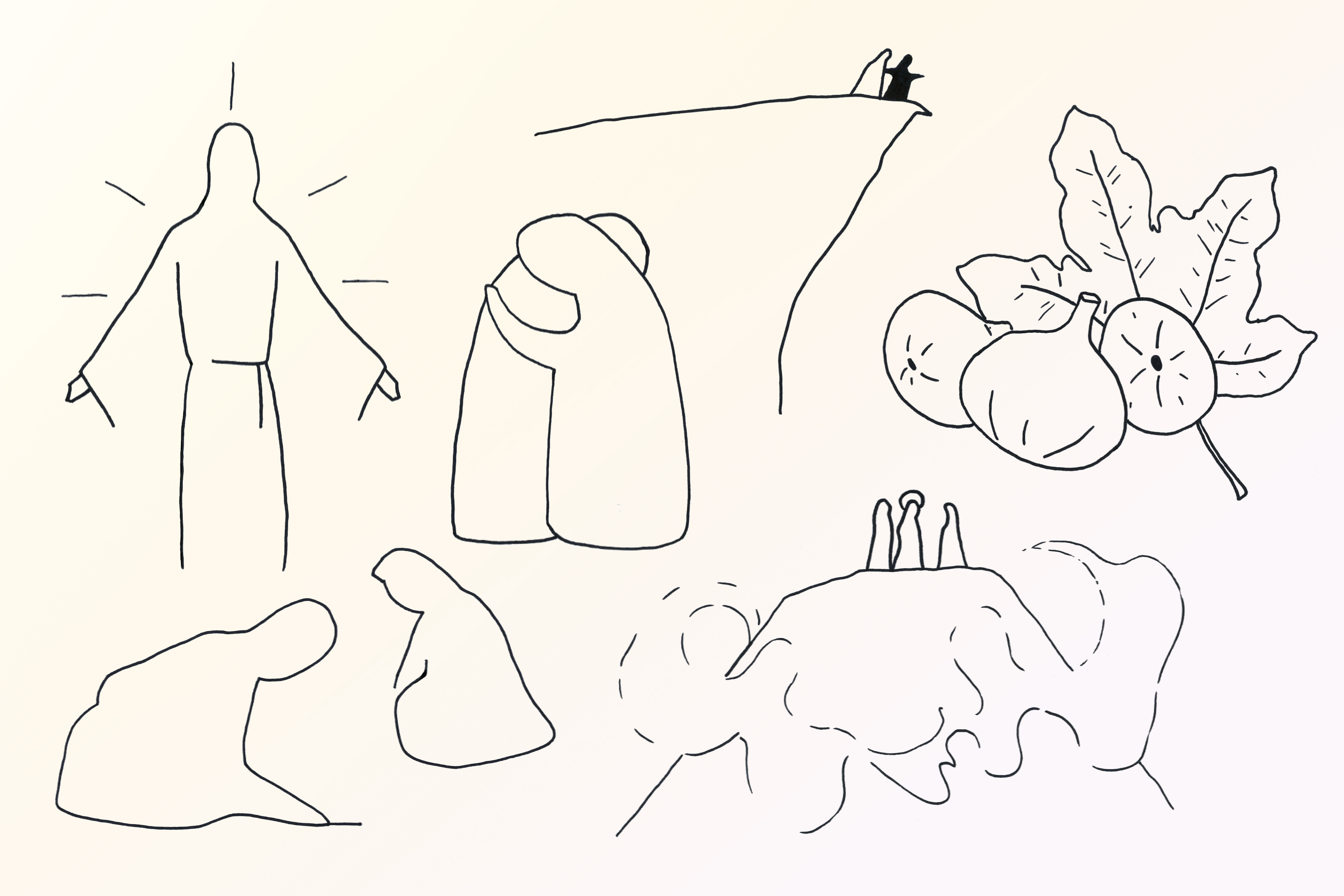 Young artist Samuel Allum has created a series of drawings for a Lenten Reflections programme developed by Fr Joseph Parkinson, Director of the LJ Goody Bioethics Centre. Photo: Sourced.