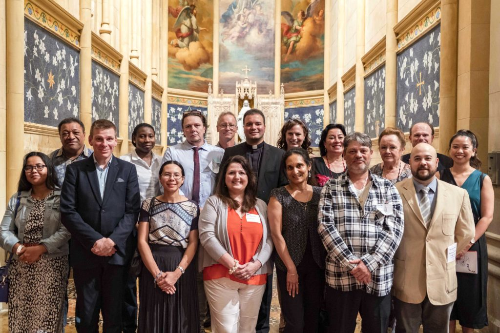 Some of the catechumens and candidates with their sponsors at the Rite of Election of Catechumens and Formal Recognition of Candidates held at the St Marys Cathedral on 14 March. Photo: Josh Low.