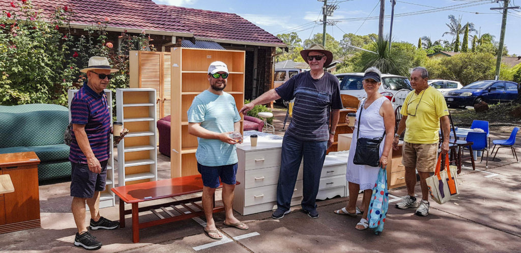The second-hand furniture stall gained a lot of attraction at the Summer Carnival held at the All Saints Catholic Church on 10 March. Photo: Supplied.