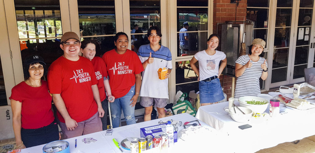 The 24:7 Youth Ministry was in attendance at the Summer Carnival to help raise funds on 10 March. Photo: Supplied.