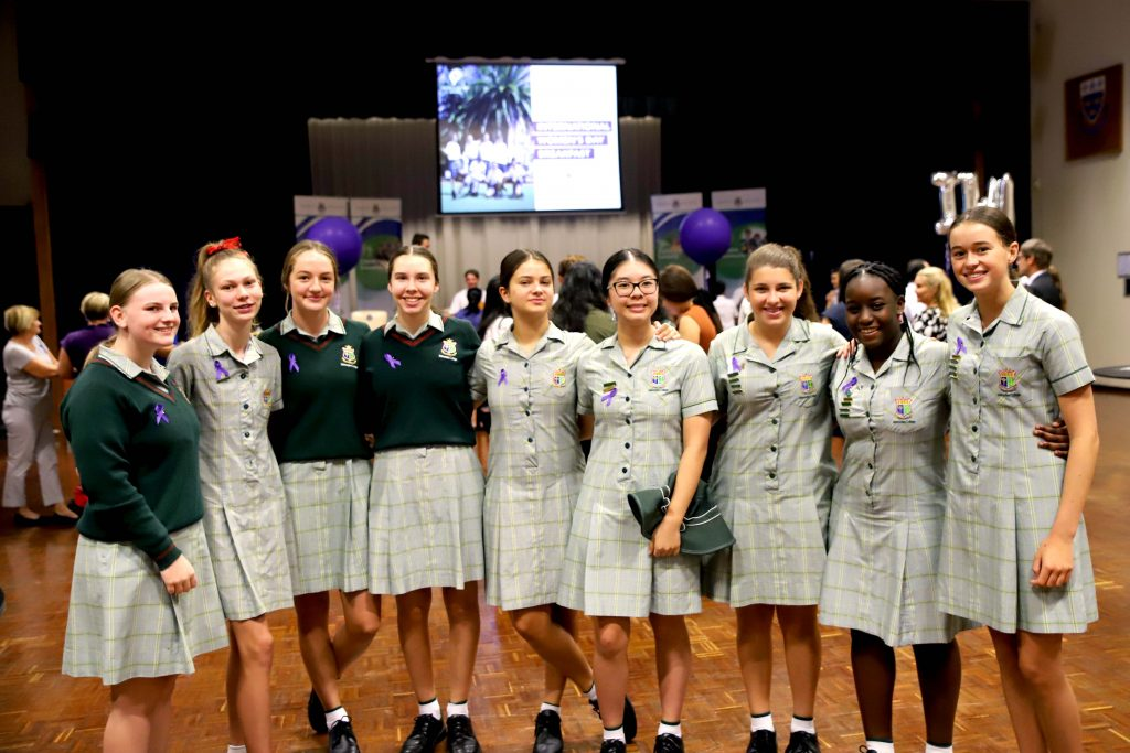 Mercedes College pupils at Trinity College's inaugural International Women's Day Breakfast on 7 March. Photo: Trinity College.