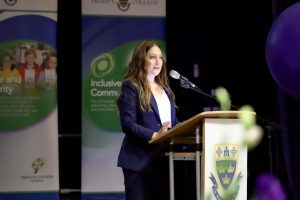 Amanda Cox, CFO and General Manager of West Coast Eagles Football Club, at Trinity College's inaugural International Women's Day Breakfast on 7 March. Photo: Trinity College.