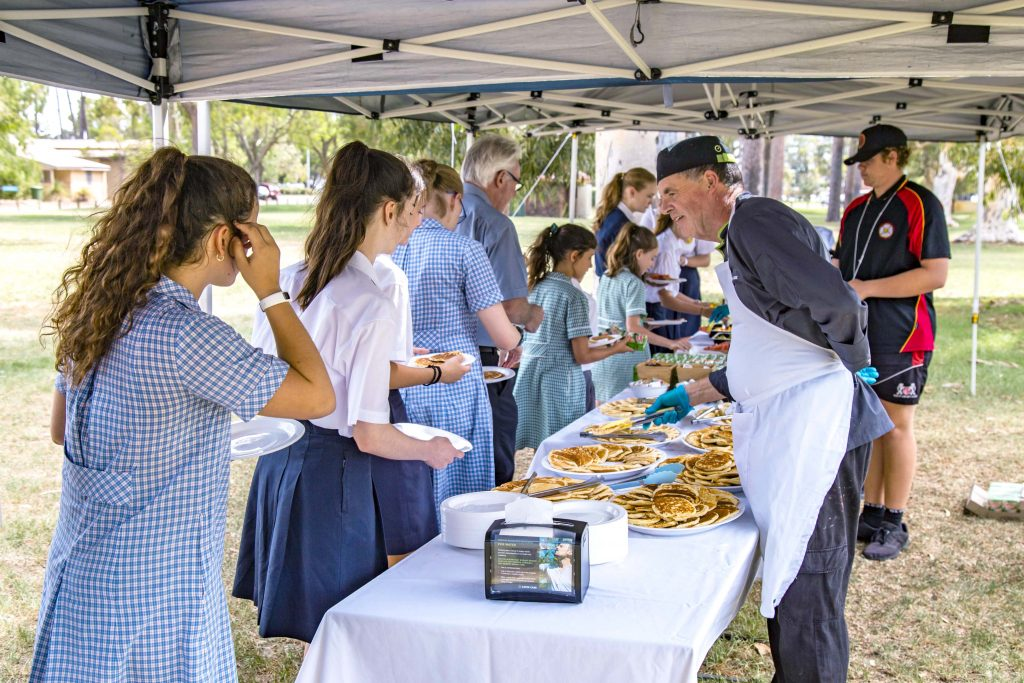 Guests were treated to pancakes to celebrate Shrove Tuesday. Photo: Eric Martin.