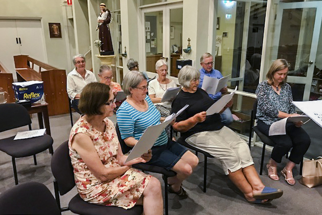 Representatives from Perth Archdiocesan parishes gathered on Wednesday 20 February for a two-hour liturgical music workshop. Photo: Supplied.