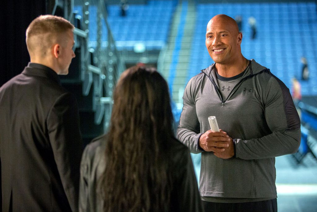 """Dwayne Johnson stars in a scene from the movie """"Fighting With My Family"""". Photo: MGM/CNS."""
