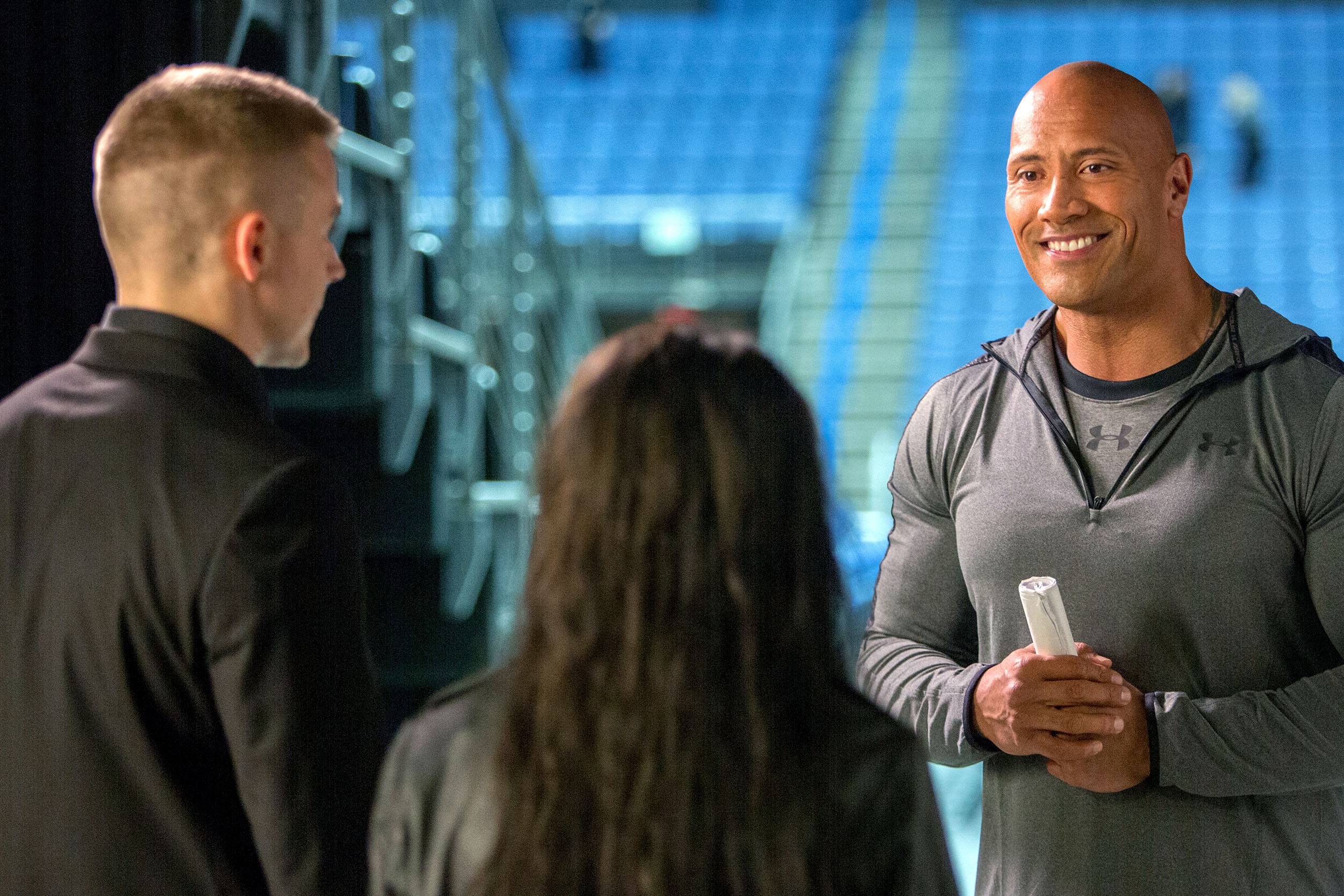 Dwayne Johnson stars in a scene from the movie
