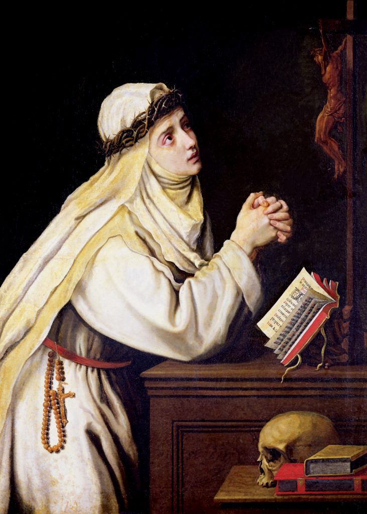 Saint Catherine of Siena preferred to live in a cell under her house because it was uncomfortable, found God in the uneasiness. Photo: Sourced.