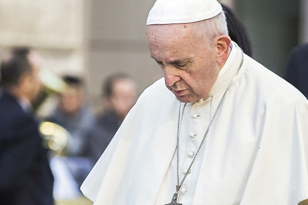 "The two simple words of ""Our Father"" offers humanity a roadmap for the spiritual life, Pope Francis said, as we are God's beloved sons and daughters. Photo: CNA."