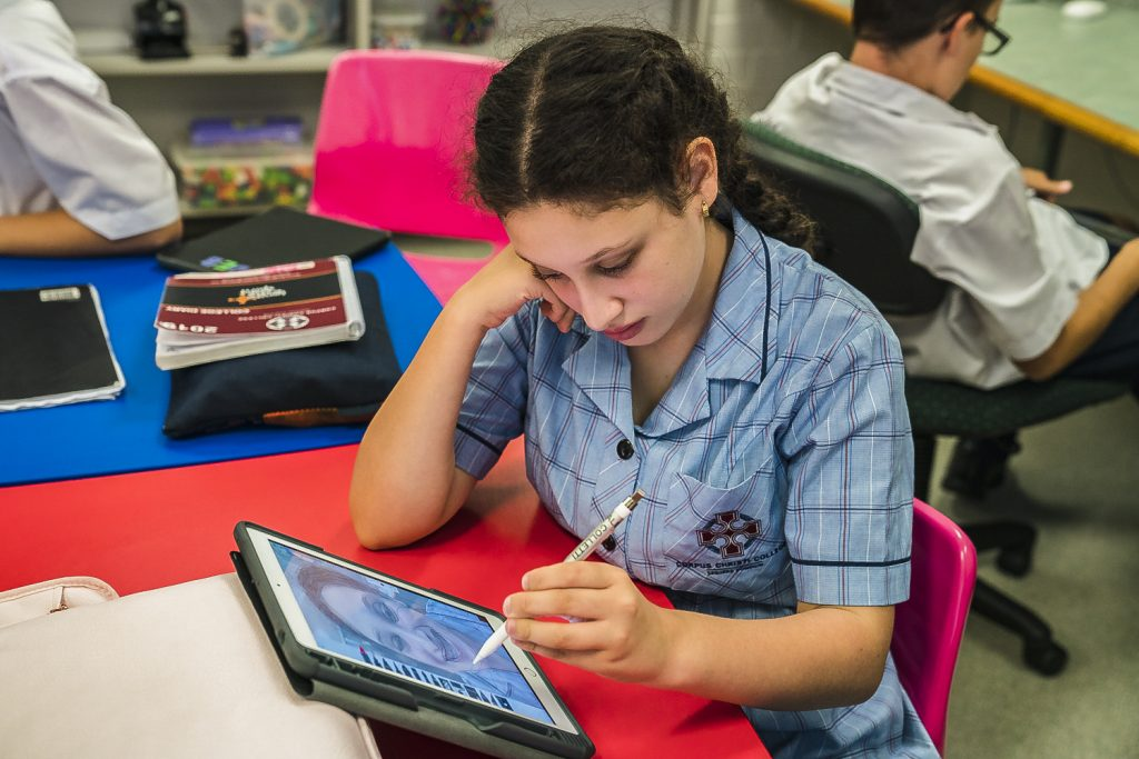 Corpus Christi College is one of two co-educational high schools in Western Australia benefitting from the Digital Creativity course. Photo: Clare Pickersgill.