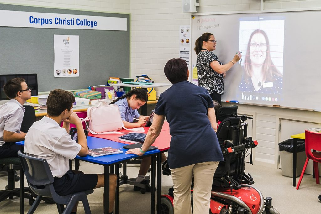 Principal Payne explained that since its inception in January 2019, the Digital Creativity course has gained a positive response from students and their families. Photo: Clare Pickersgill.