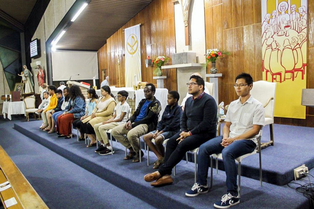Members of the Notre Dame Parish Youth Group will follow on the message of Jesus to serve the other youth members of the wider parish community. Photo: Sunil Rodrigues.