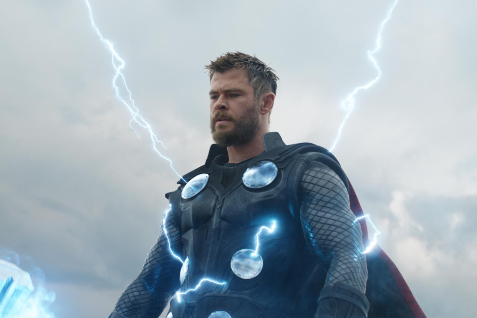 Australian actor Chris Hemsworth stars as the hammer-wielding Thor in