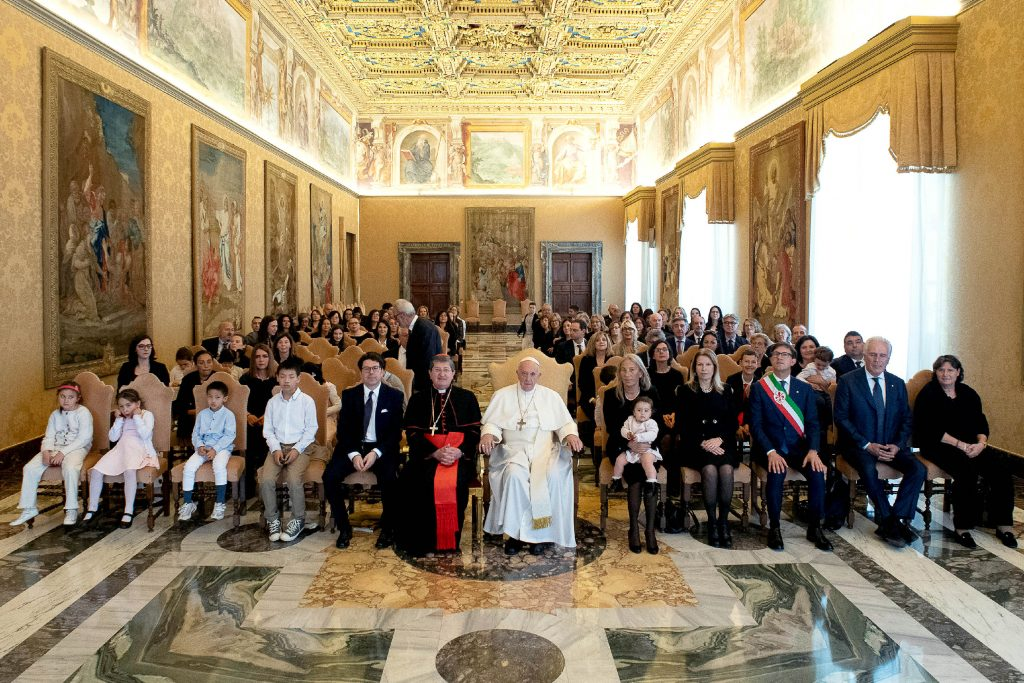 The Holy Father met the delegation at the Vatican on 24 May 2019 during an audience marking the 600th anniversary