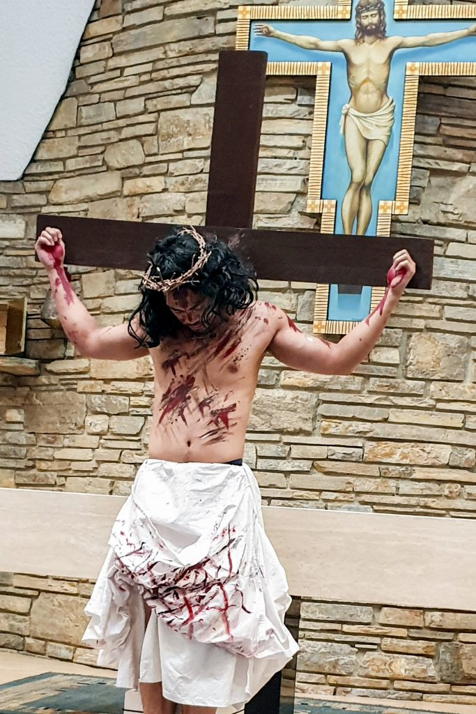 Maida Vale Parish celebrated the 2019 Easter Triduum with a live Stations of the Cross on Good Friday, 19 April 2019. Photo: Supplied.
