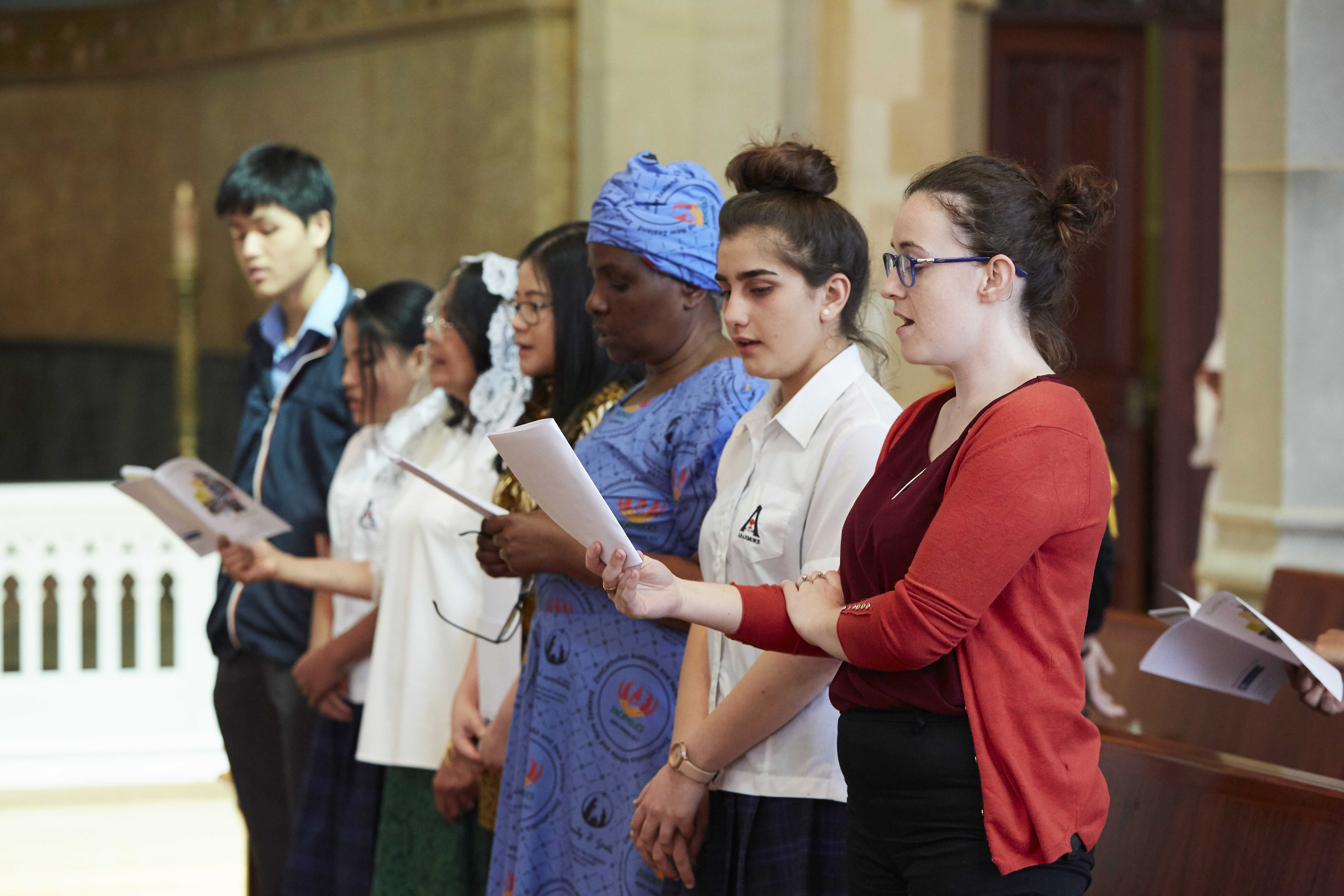 Parishioners from various parishes came together to celebrate the Unity and Diversity Mass at St Mary's Cathedral on 28 October 2018. Photo: Ron Tan.